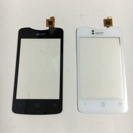 Wholesale For Acer Liquid Z130 Z3 New Black Outter Touch Screen Panel Digitizer Glass Sensor Lens Repair Replacement Parts Track Number