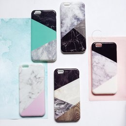 Wholesale 50 Ultra Slim Silicon Granite Marble Texture Soft TPU Back Case Cover for iPhone s plus