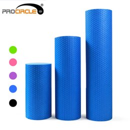 Wholesale ProCircle EVA Floating Point Foam Roller Solid Accupoint Massage Fitness Muscle Tissue Yoga Rollers cm Blue