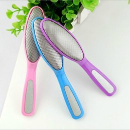 Wholesale HOT and cheap stainless steal foot file foot care tool oval shape dual head grainder design OPP bulk packing