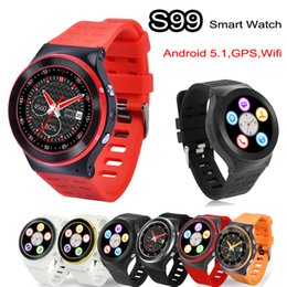 Wholesale ZGPAX Android Smart Watch Phone G WCDMA S99 Quad Core GB GHz Heart Rate M HD Camera GPS Wifi FM Bluetooth Smartwatch Handsfree