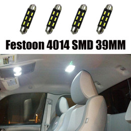 150pcs 12V LED 39mm 4014 SMD C5W 6SMD door handle footwell glovebox bulbs Led Festoon Dome Light reading lamp Interior&External Lighting
