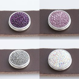 Wholesale Best sales mm Snaps Button With Rhinestone For Snaps Jewelry Fit Ginger Snaps Jewelry And Noosa Chunks KB23