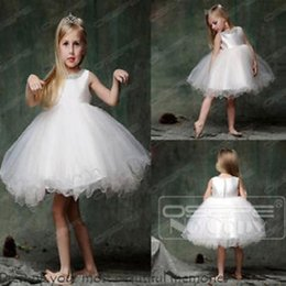 2016 White Christening Bridesmaid Pageant Ball Gown Communion Flower Girl Dress