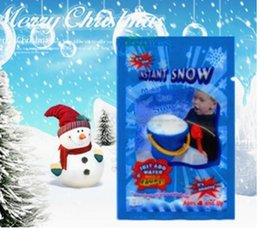 Wholesale hot Christmas Decoration Instant Snow Magic Prop DIY Instant Artificial Snow Powder Simulation Fake Snow Night Party magic snow