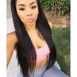 Brazilian human hair full lace wig   front lace wig with baby hair for black women natural straight free part soft wigs