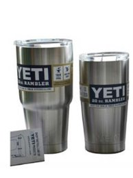 Wholesale Stainless Steel Yeti Coolers Rambler Tumbler Silver Cups oz Vehicle Beer Mug Double Wall Bilayer Vacuum Insulated ml