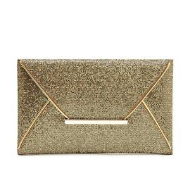 Wholesale Gold Black Coffe Diamond Evening Cutch New Women Handbags High Quality Ladies Party Purse Famous Designer Brand Brilliant Envelope Bags