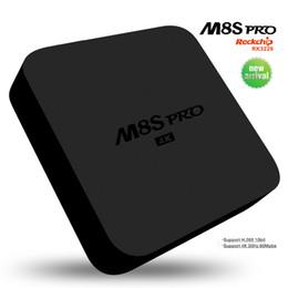 Wholesale M8S Pro Android Mini TV Box RK3229 DDR GB Full Loaded Android Wifi DLAN HDMI K H Smart Digital Internet Media Player
