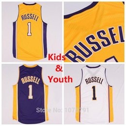 Wholesale Los Angeles D Angelo D Angelo Russell Jersey Cheap D Angelo Russell Basketball Jersey Color Embroidery Logo S XL