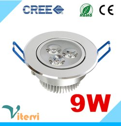 Wholesale High power CREE LED downlight W LEDS AC85 V Ceiling light Indoor spotlight embedded installation