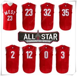 Wholesale With Logo name Stitched West All star Basketball Jersey Toronto SW Curry Davis Leonard ALDRIDGE Griffin Paul Durant Westbrook SPORT