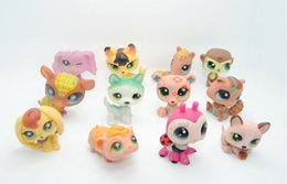 Wholesale 30pcs set LPS Toys Littlest Pets Shop Q Pets Mini Pet Animation Decoration Doll Animals Figures Cute Plastic Toys