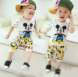 2016 summer new style baby boys and girls sport suits kids short sleeve sets children's T-shirt and short pant 2 piece sets.