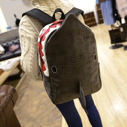 2016 NEW Nubuck leather Dolphin A bag Women Dolphin Shark Backpack High-capacity Travel Backpack Computer package school bags