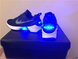 Wholesale Hot Hyper Adapt mag shoes best quality men trainers glow in the dark size black white grey color