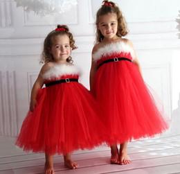 Wholesale Christmas Girls Dress Gauze Skirt Plush With Belt Bra Straps Princess Skirt children dress Europe Type cm sets Free Ship XREY213