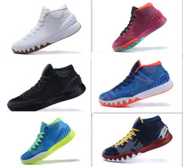 Wholesale 2016 New Arrival Mens Kyrie Irving BHM Black History Month Dream Oreo Sneaker Sports Shoes Running Shoes Best Basketball Shoes Men
