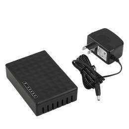 Wholesale Lan Switch Port - 5 Port 10 100Mbps Desktop Ethernet Network LAN Power Adapter Switch Hub US Plug