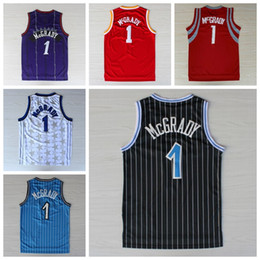 Wholesale Best Tracy McGrady Jersey Throwback Shirt Rev New Material Tracy McGrady Uniforms Retro Team Road Black Blue White Red Purple Quality
