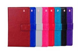 Lg sachets en plastique à vendre-Crazy Horse PU Housse Flip portefeuille en cuir pour LG M1 K7 K10 M2 Support carte de crédit en plastique dur coloré téléphone portable 50pcs Cover Bag de la peau