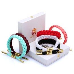 Wholesale 24 Color California Rastaclat Braiding Lion Galaxy Shoelace Chain Wristband Adjustable Ties CM POLYESTER Couples Sport Bracelet