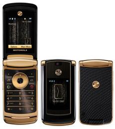 Wholesale Refurbished Original MOTOROLA RAZR V8 ROM GB MB Unlocked Mobile Phone multi lingual and keyboard old cell phone