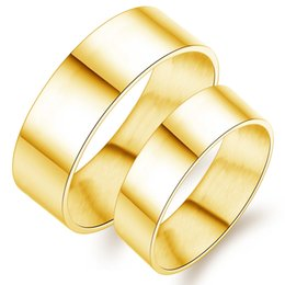 Lover's Ring Titanium Stainless Steel Rings New Fashion Simple Gold Love Ring High Quality Free Shipping