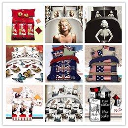 Wholesale Marilyn Monroe Bedding - marilyn monroe 3D bedding queen bedding set ployester bed sheets bed set home textile duvet cover set quilt cover 4pc