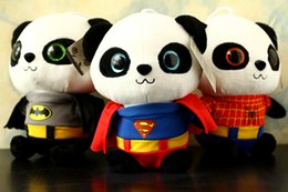 Wholesale 20 CM Soft Batman Panda Stuffed Toys Cute Plush Animals Toys Best Christmas Gifts Kids Toys For Children