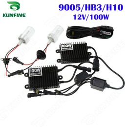 12V 100W Xenon Headlight 9005   HB3   H10 HID Conversion xenon Kit Car HID light with AC ballast For Vehicle Headlight KF-K2002-9005