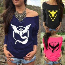 Wholesale poke go plus women men t shirt Poke Ball element shirt Valor Mystic Instinct t shirt homme t shirt b450