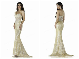 2016 New Shoulder Lace Sequins Mermaid Prom Dresses Long Trailing Lace Applique Crystal Beaded Evening Gowns Sexy Beauty Dress Plus Size