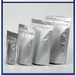 papel de aluminio puro de calidad alimentaria DHL 100x envío libre de pie bolsas con cierre zip bolsas del cojín de la humedad con cierre a prueba de 9 * 13 cm 3 desde bolsas de embalaje reutilizables fabricantes