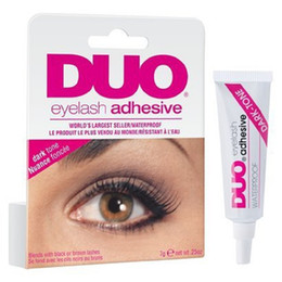 Wholesale DUO Eye Lash Glue Clear White black Makeup Adhesive Waterproof False Eyelashes Lady makeup tool free Ship