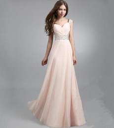 Wholesale 2016 Sexy Cheap Colorful A line Empire Chiffon Bridesmaid Dress Cap Sleeves Sweetheart Long Backless Coral Evening Gowns Prom Dresses EB239
