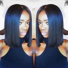 Short Bob Wig Peruvian Full Lace Wigs Middle Part Lace Front Human Hair Bob Wigs For Black Women Short Bob Wigs Human Hair