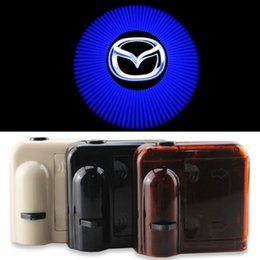 Wholesale Wireless No Drill Magnetic Car LED Door Welcome Projector Logo Ghost Shadow Laser Lights for MAZDA