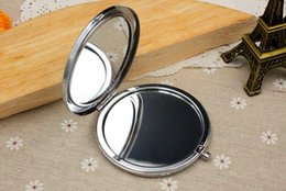 Wholesale DIY Kit Blank Compact Mirror with mm epoxy stickers Pocket mirror supply Make Up Mirror Double Sided Mirrors