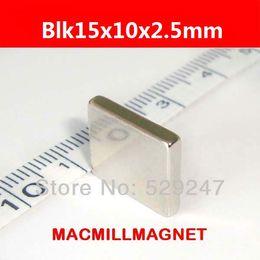 New x Big Super Strong Cuboid Block Magnet Rare Earth Neodymium 15 x 10 x 2.5 mm Free shipping