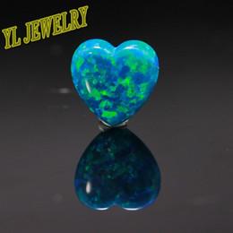 50pcs par lot Synthétique Lab Opale Coeur Cabochon coupé 78 couleurs pour votre choix pour la fabrication de bijoux Opal à partir de choix de sports fournisseurs