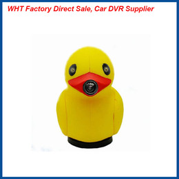 Wholesale Smallest Motion Detection Camera - 2016 Newest 2.0 inch Small Yellow Duck Shape 140 degree board angle HD 1080p Car dvr camera electronic Night Vision G-sensor Freeshipping