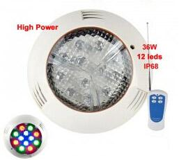 AC 12V 36W LED Underwater Swimming Pool Lamp for Garden Fountain Water Lighting Piscina Waterproof IP68 RGB Blue Red Green Warm white