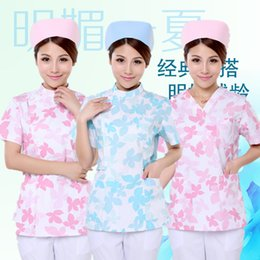 Wholesale pure cotton washing clothes does brush hand suit men and women long sleeve gown beauty nurse