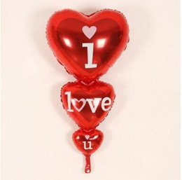 Compra Online Globos del corazón-Los globos rojos de la hoja de la forma del corazón del día de tarjeta del día de San Valentín 10pcs / lot proponen las decoraciones de la mala hierba que los globos de aire proponen los regalos del globo de la boda