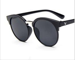 2017 espejo de cristal clásico Las gafas de sol clásicas del ojo del gato hombres de las mujeres diseñan los vidrios de sol del espejo de las gafas del diseñador Gafas Oculos De Sol UV400 L334 barato espejo de cristal clásico