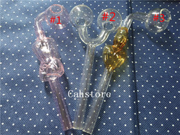 In stock special offer slingshot Grils shape Glass Smoking Pipes Transparent clear glass Oil burners water pipes quick seller