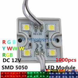 Wholesale 1000pcs LED Led C Backlight Led Lights Modules RGB Pixel Tetragonal Iron Led Modules For Channel Letter Advertisement Light