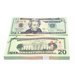 Wholesale 100pcs USD Dollars China Bank Staff Training Banknotes Paper Money Gift