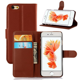 For iphone 6S case leather For Samsung Galaxy S7 Color Painting Cases With Credit Card Slots Punch Stand Holder Painted Case leather